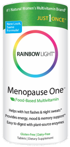 Rainbow Light Menopause One Multivitamin Gluten Free Tablets Perspective: front
