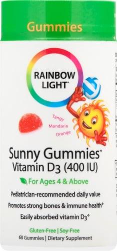 Rainbow Light Vitamin D3 Tangy Orange Flavor Gummies 400IU Perspective: front