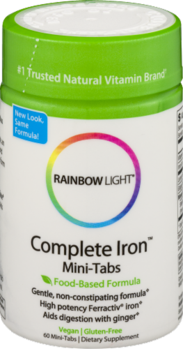 Rainbow Light Complete Iron Mini Tablets Perspective: front