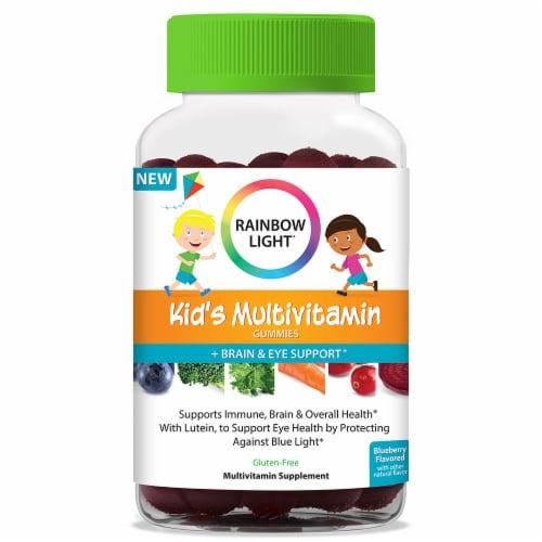Rainbow Light Kid's Multivitamin Brain & Eye Support Gummies Perspective: front
