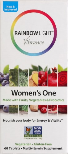 Rainbow Light Women's One Multivitamin Supplement Tablets 60 Count Perspective: front