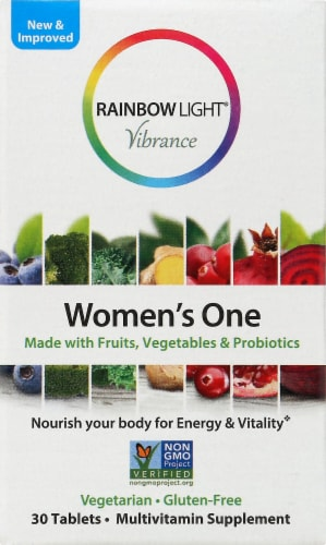 Rainbow Light Women's One Multivitamin Supplement Tablets 30 Count Perspective: front