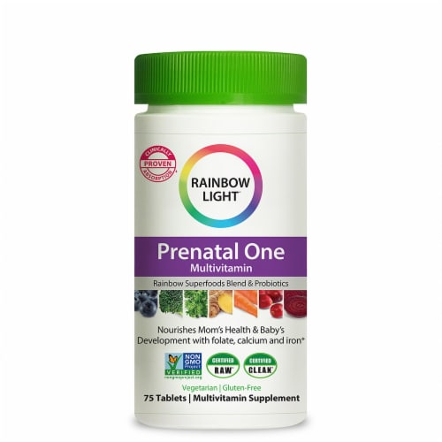 Rainbow Light Prenatal One Multi Vitamin Tablets Perspective: front