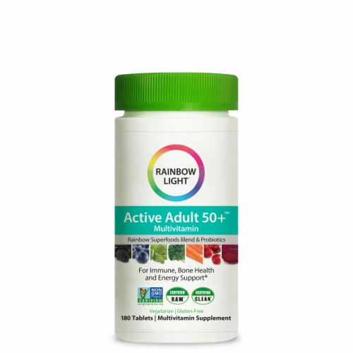 Rainbow Light Active Adult 50+ Multivitamin Perspective: front