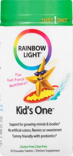 Rainbow Light Kid's One Multivitamin Chewable Tablets Perspective: front