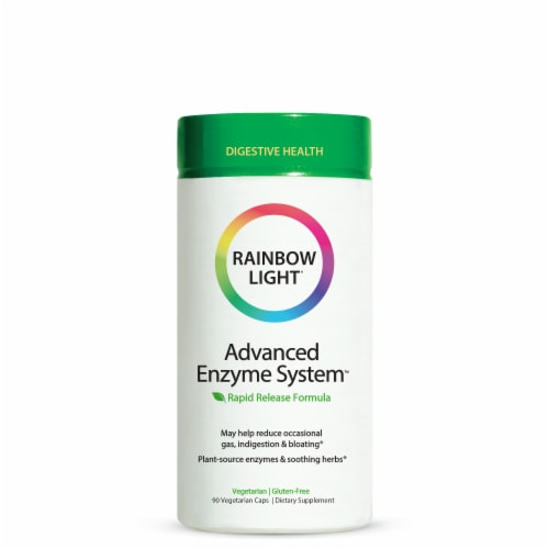 Rainbow Light Advanced Enzyme System Digestive Health Vcaps Perspective: front