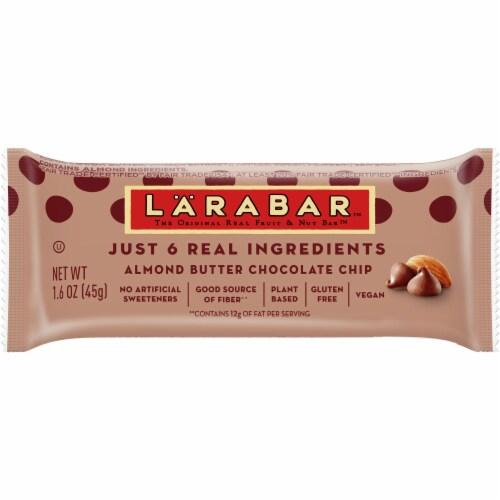 Larabar Almond Butter Chocolate Chip Bar Perspective: front
