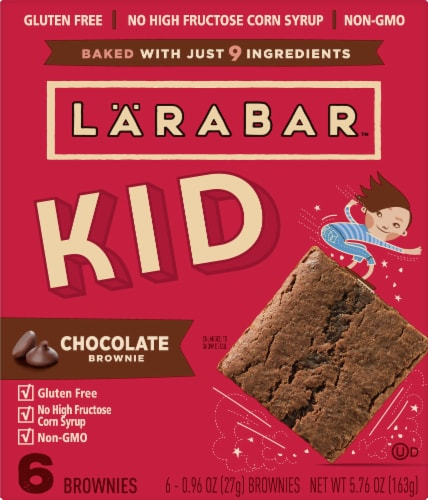 Larabar Kid Chocolate Brownie Bars Perspective: front