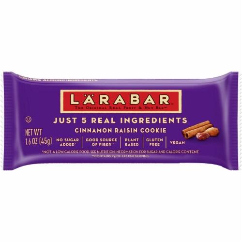 Larabar Gluten Free Cinnamon Raisin Cookie Fruit & Nut Bar Perspective: front