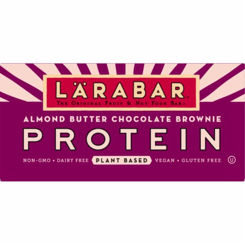 Larabar Almond Butter Chocolate Brownie Protein Bars 12 Count Perspective: front