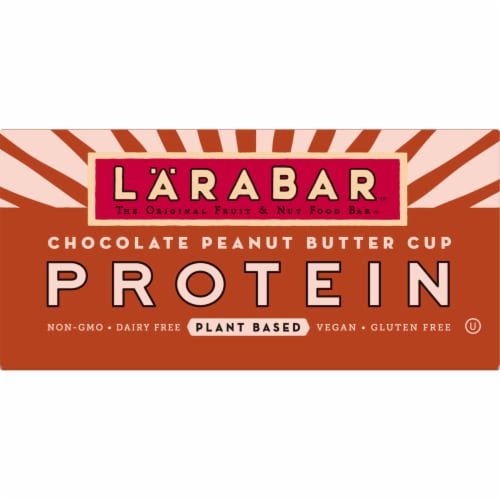 Larabar Chocolate Peanut Butter Cup Plant Based Protein Bars Perspective: front