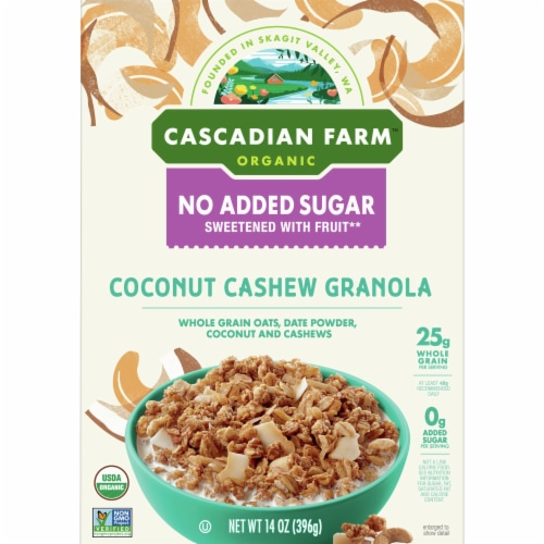 Cascadian Farm Organic Coconut Cashew Granola Perspective: front