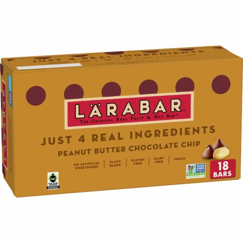 Larabar Peanut Butter Chocolate Chip Gluten-Free Snack Bars Perspective: front