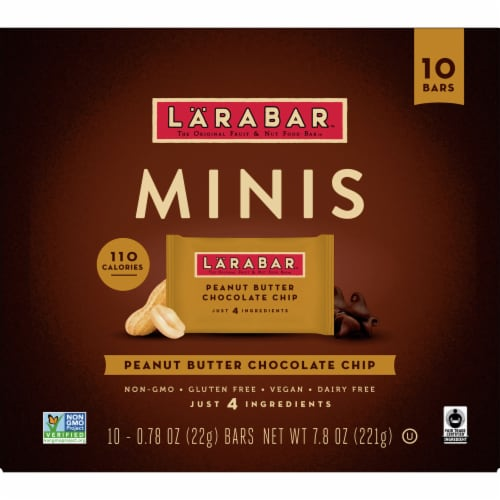 Larabar Peanut Butter Chocolate Chip Mini Fruit and Nut Bars Perspective: front