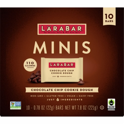 Larabar Chocolate Chip Cookie Dough Mini Fruit and Nut Bars Perspective: front