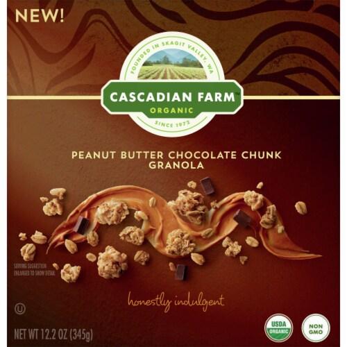 Cascadian Farm Organic Peanut Butter Chocolate Chunk Granola Perspective: front