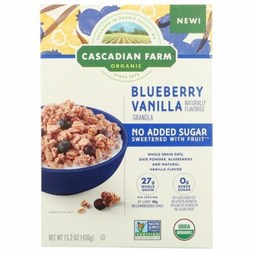 Cascadian Farm Organic Blueberry Vanilla Granola Perspective: front