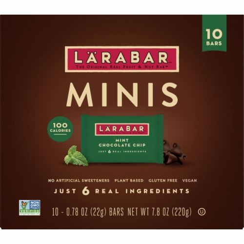 Larabar Mint Chocolate Chip Mini Fruit and Nut Bars Perspective: front