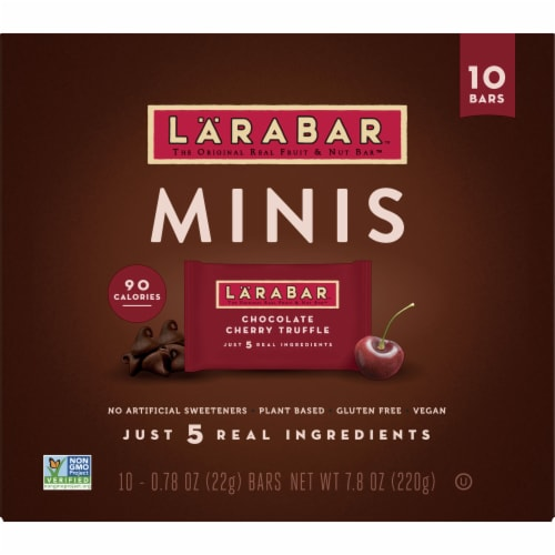 Larabar Minis Chocolate Cherry Truffle Fruit and Nut Bars Perspective: front