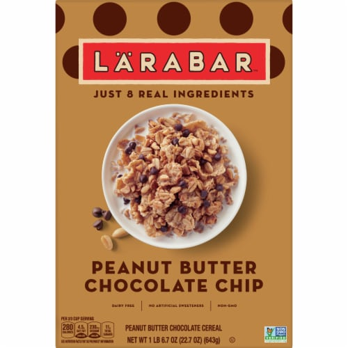 Larabar Peanut Butter Chocolate Chip Cereal Perspective: front
