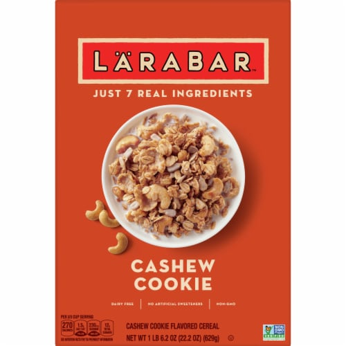 Larabar Cashew Cookie Cereal Perspective: front
