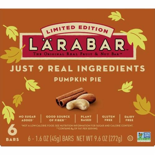 Larabar Pumpkin Pie Limited Edition Fruit & Nut Bars Perspective: front