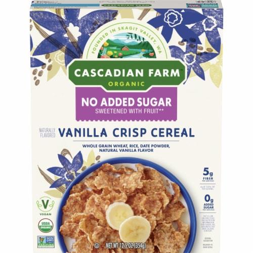 Cascadian Farm Organic No Added Sugar Vanilla Crisp Cereal Perspective: front