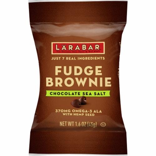 Larabar Hemp Seed Chocolate Sea Salt Brownie Fruit and Nut Bar Perspective: front