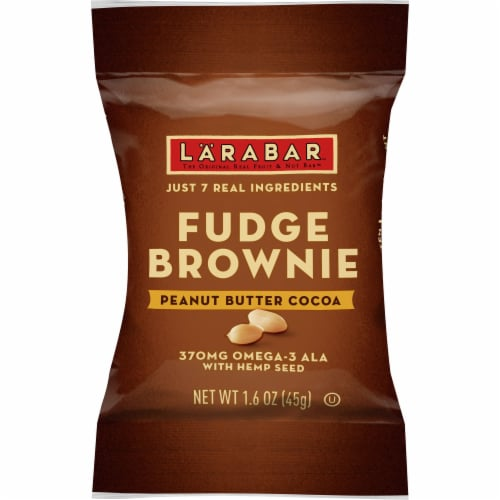 Larabar Cocoa Peanut Butter Brownie with Hemp Seed Perspective: front