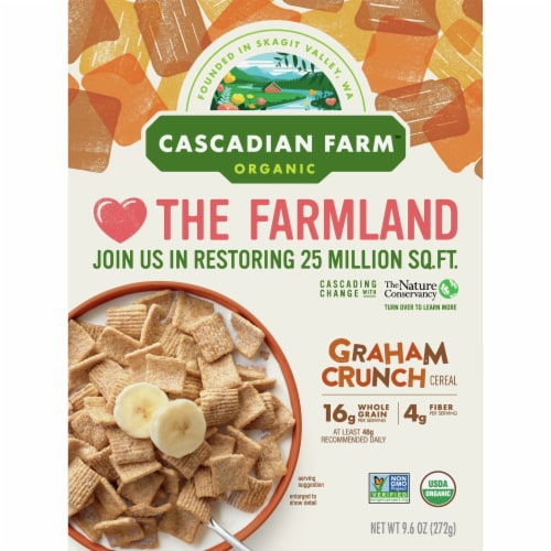 Cascadian Farm Organic Graham Crunch Cereal Perspective: front