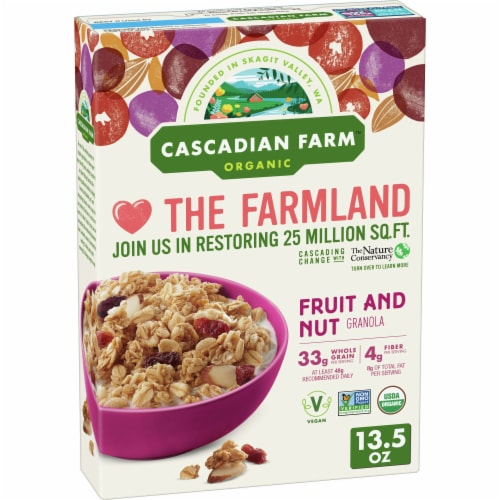 Cascadian Farm Organic Fruit & Nut Granola Perspective: front