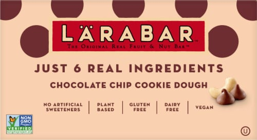 Larabar Chocolate Chip Cookie Dough Snack Bar, 25.6 Ounce -- 4 per case. Perspective: front