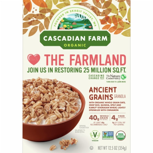 Cascadian Farm Organic Ancient Grains Granola Cereal Perspective: front