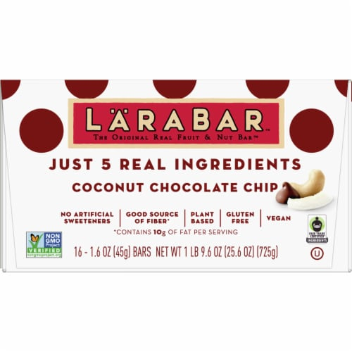 Larabar Coconut Chocolate Chip Bars Perspective: front