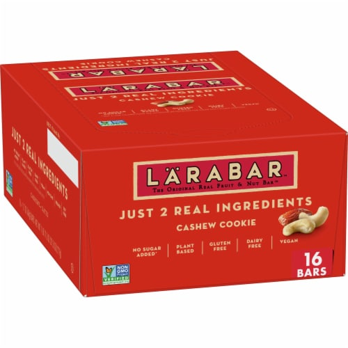 Larabar Cashew Cookie Fruit & Nut Bars Perspective: front