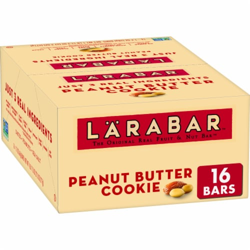 Larabar Peanut Butter Cookie Fruit & Nut Bars Perspective: front