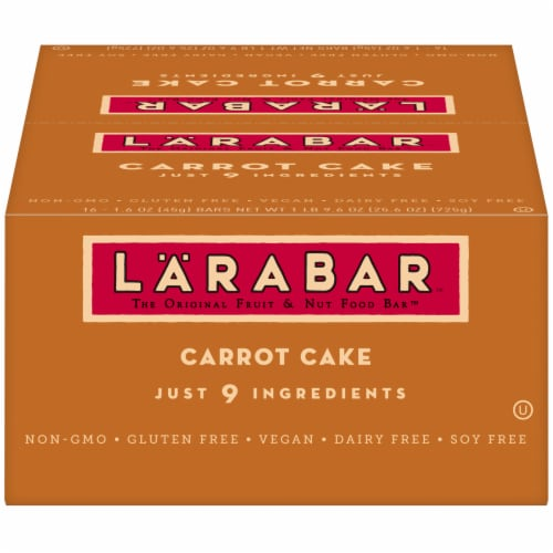 Larabar Carrot Cake Bars Perspective: front
