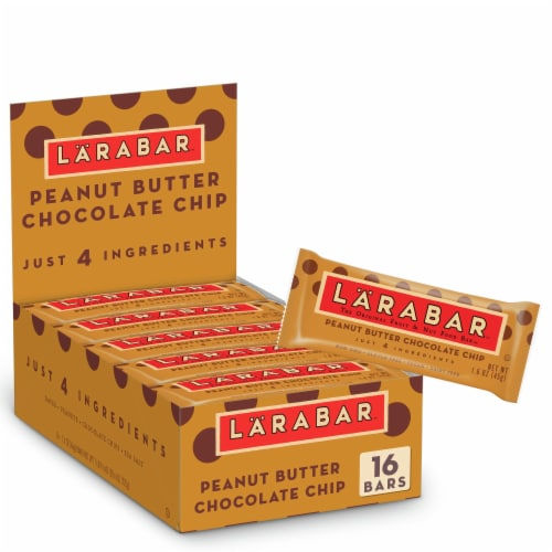 Larabar Peanut Butter Chocolate Chip Snack Bars Perspective: front