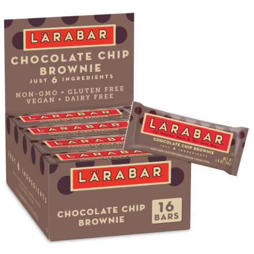Larabar Chocolate Chip Brownie Fruit & Nut Bars Perspective: front