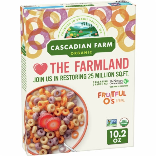 Cascadian Farm Organic Fruitful O's Cereal Perspective: front