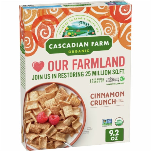 Cascadian Farm Organic Cinnamon Crunch Cereal Perspective: front
