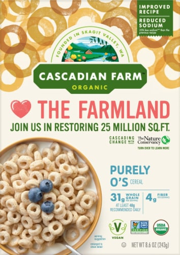 Cascadian Farm Organic Purely O's Cereal Perspective: front