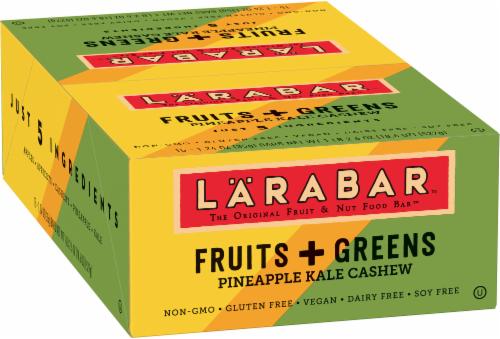 Larabar Fruits + Greens Pineapple Kale Cashew Fruit & Nut Bars 15 Count Perspective: front