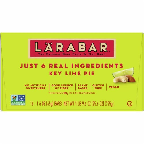 Larabar Key Lime Pie Fruit & Nut Bars Perspective: front