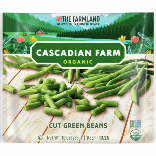 Cascadian Farm Organic Cut Green Beans Perspective: front