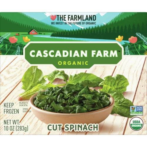 Cascadian Farm Premium Organic Cut Spinach Perspective: front