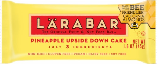 Larabar Pineapple Upside Down Cake Fruit & Nut Bar Perspective: front