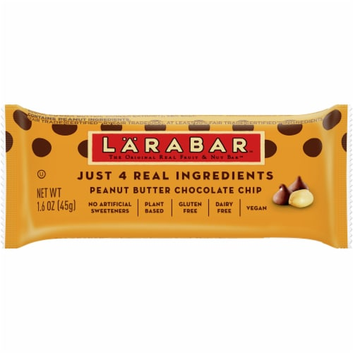 Larabar Peanut Butter Chocolate Chip Fruit & Nut Bar Perspective: front