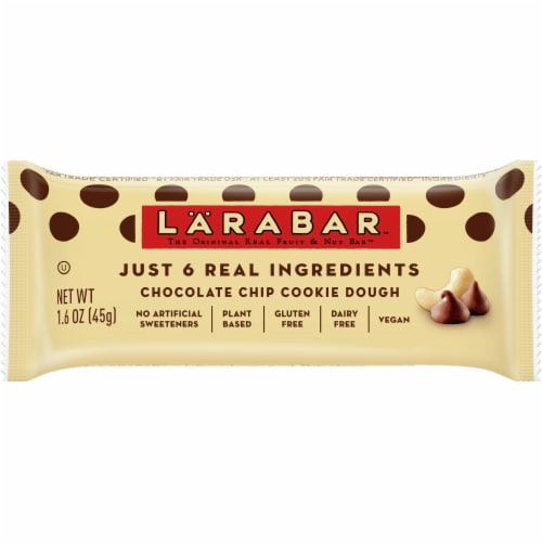 Larabar Chocolate Chip Cookie Dough Fruit & Nut Bar Perspective: front