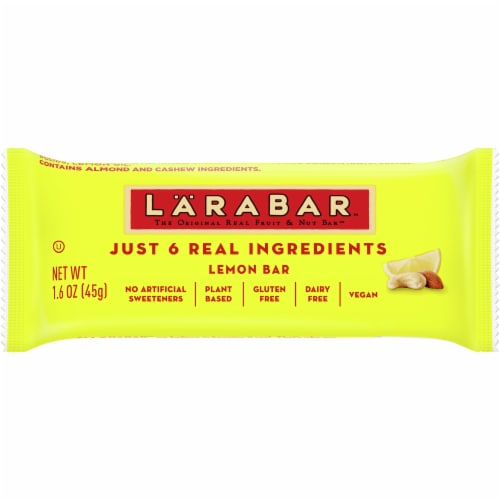 Larabar Lemon Fruit & Nut Bar Perspective: front
